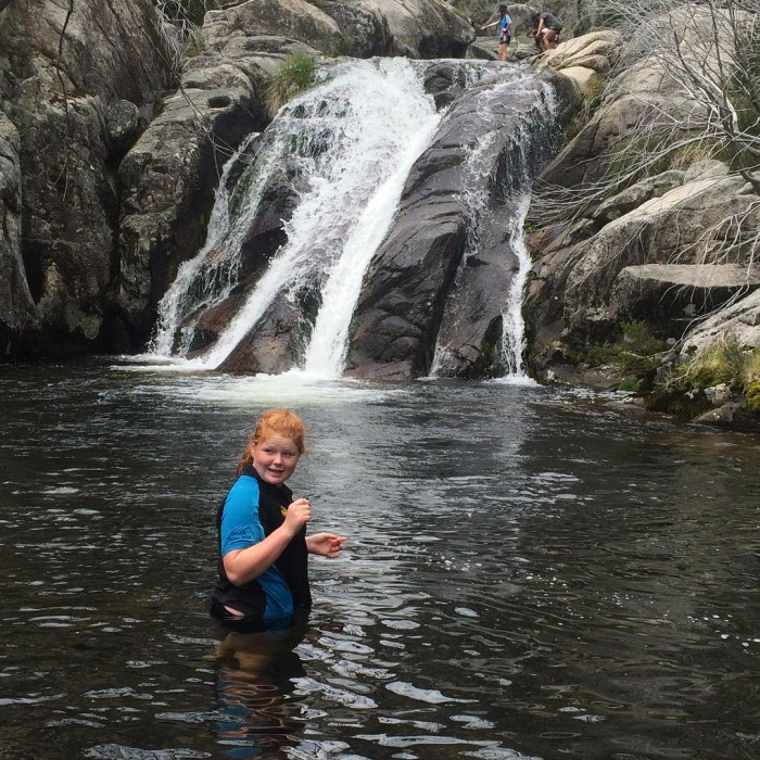 Swimming at the waterfalls