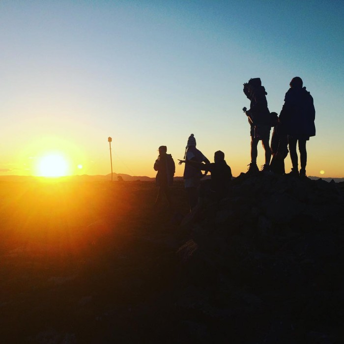 Beautiful sunset at Mt Nelse last night! Hike and rafthellip