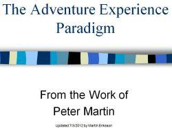 Adventure Experience Paradigm