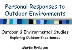 Personal Responses