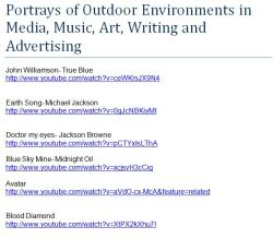 Portrays of Outdoor Environments