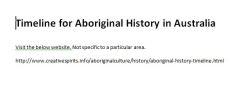 TimelineforAboriginalHistory