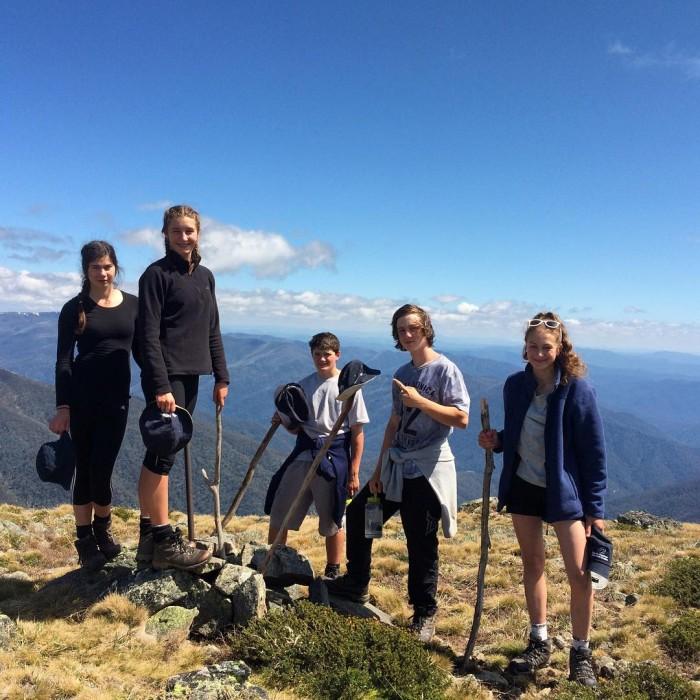 High point for the trip quartz ridge mtbogong futuremakers group1