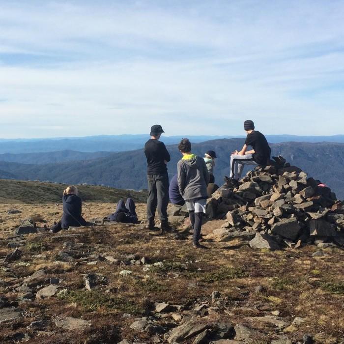Beechworth gp1 taking in the sights on Mt Nelae